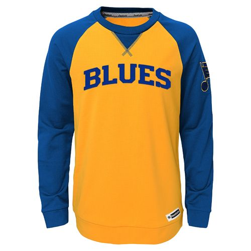 Reebok Boys' St. Louis Blues Raglan Crew T-shirt