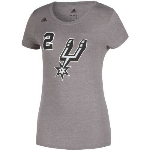 adidas Women's San Antonio Spurs Kawhi Leonard No. 2 Game Time T-shirt