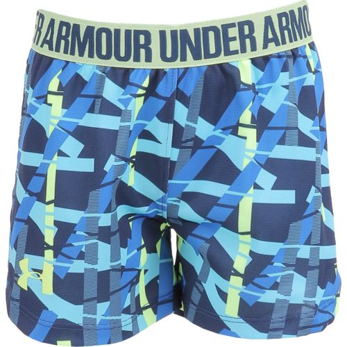Under Armour Girls' Shifting Ladders Printed Play Up Short