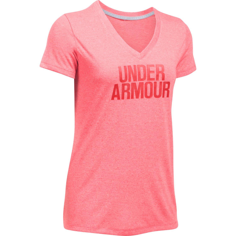 Under Armour™ Women's Threadborne Train Wordmark Twist V-neck