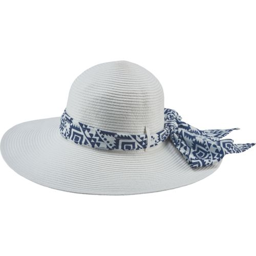 O'Rageous Women's Paper Sun Hat with Printed Trim