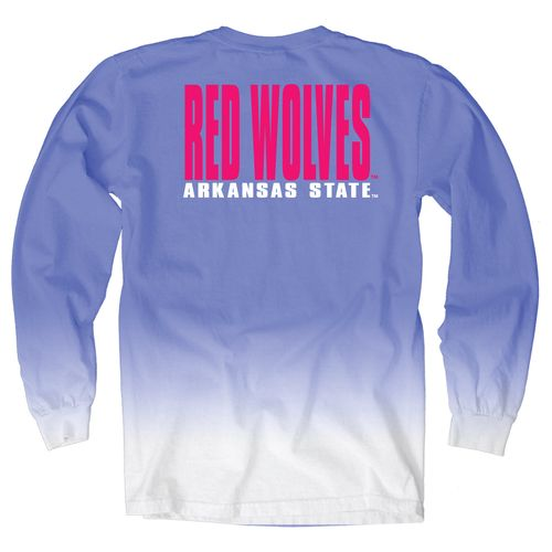 Blue 84 Women's Arkansas State University Ombré Long Sleeve Shirt