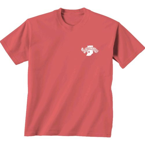 New World Graphics Women's Indiana State University Floral Short Sleeve T-shirt - view number 2