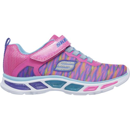 SKECHERS Girls' S Lights Litebeams Colorburst Shoes
