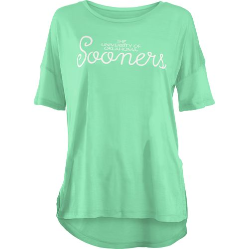 Three Squared Juniors' University of Oklahoma Je T'Adore V-neck T-shirt