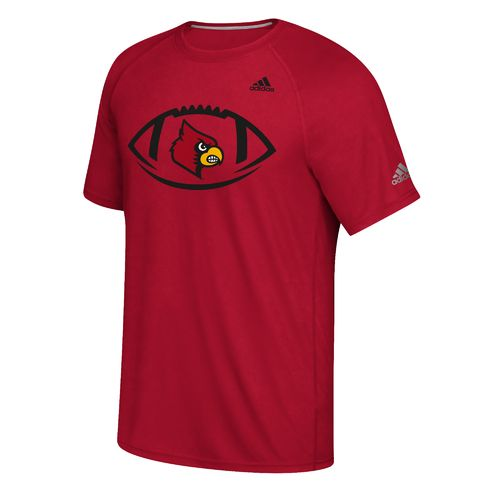 adidas Men's University of Louisville Sideline Pigskin T-shirt