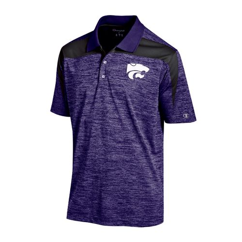 Champion™ Men's Kansas State University Synthetic Colorblock Polo Shirt