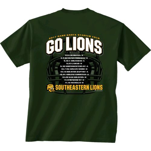 New World Graphics Men's Southeastern Louisiana University Football Schedule '17 T-shirt