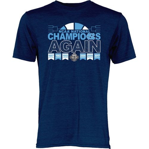 Blue 84 Men's University of North Carolina 2017 NCAA Men's National Champions Again T-Shirt