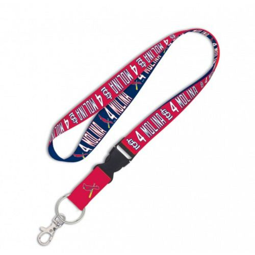WinCraft St. Louis Cardinals Yadier Molina 4 Buckle Lanyard - view number 1