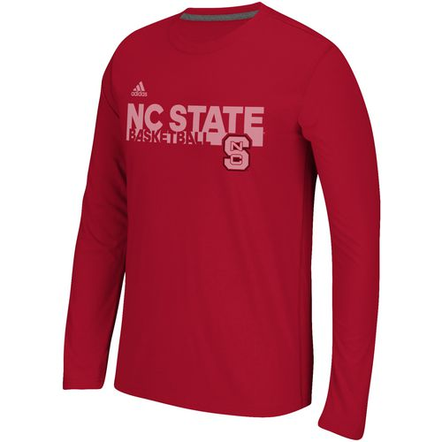 adidas Men's North Carolina State University Sideline Grind Long Sleeve T-shirt