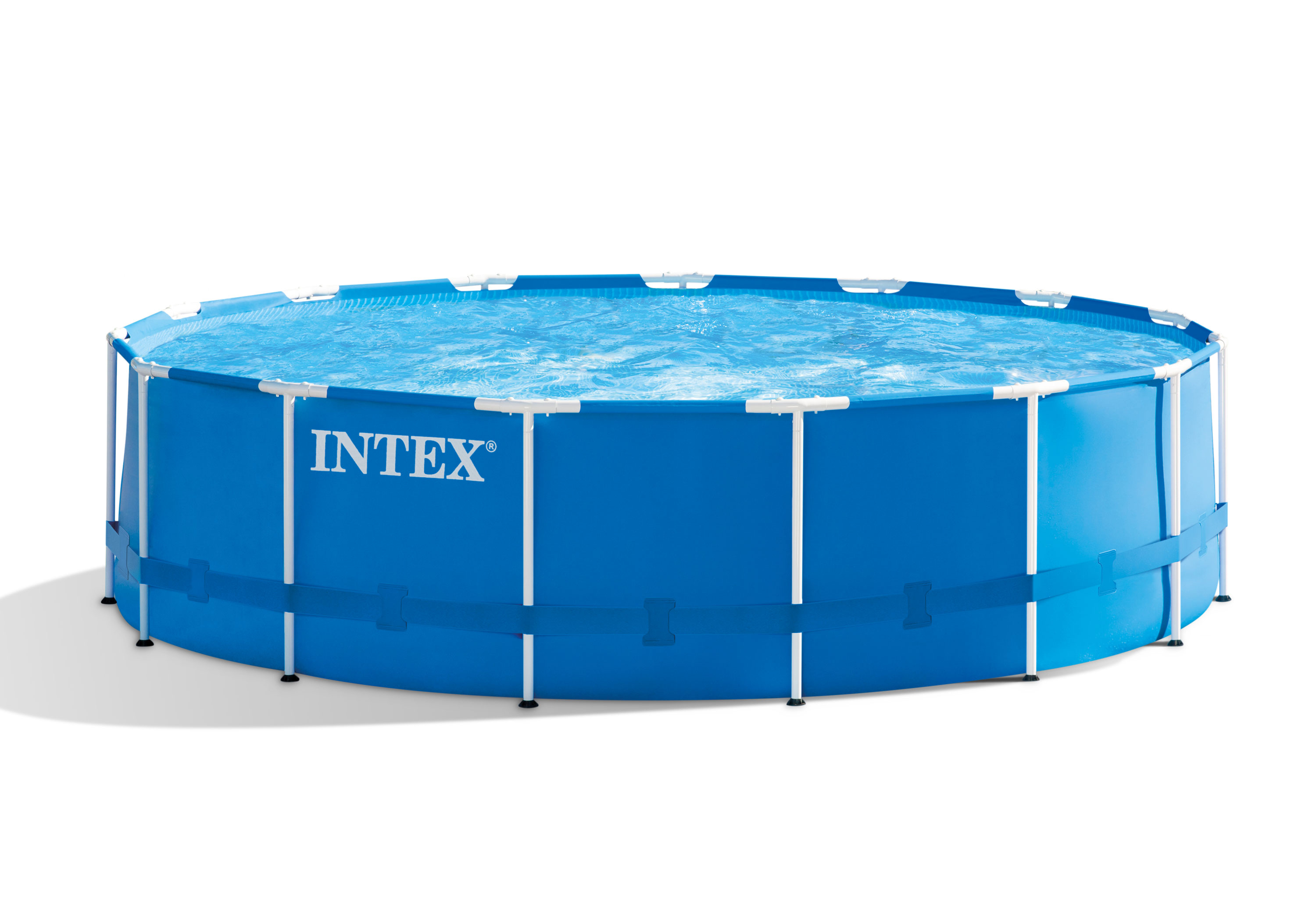 INTEX 15 ft x 48 in Metal Frame Round Pool Set