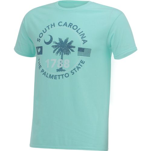 Academy Sports + Outdoors Men's South Carolina Palmetto State Circle T-shirt - view number 3