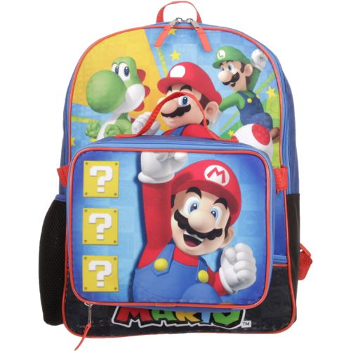 Nintendo Boys' Mario Backpack with Lunch Kit