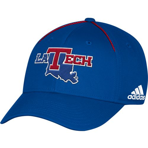 adidas Men's Louisiana Tech University Coach Structured Flex Cap