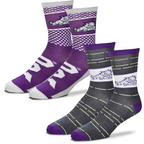 For Bare Feet Men's Texas Christian University Father's Day Socks