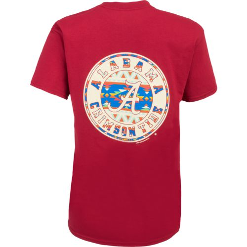 New World Graphics Women's University of Alabama Logo Aztec T-shirt