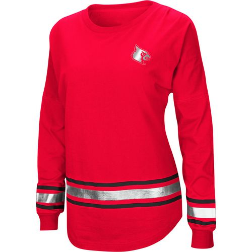Colosseum Athletics Women's University of Louisville Humperdinck Oversize Long Sleeve T-shirt