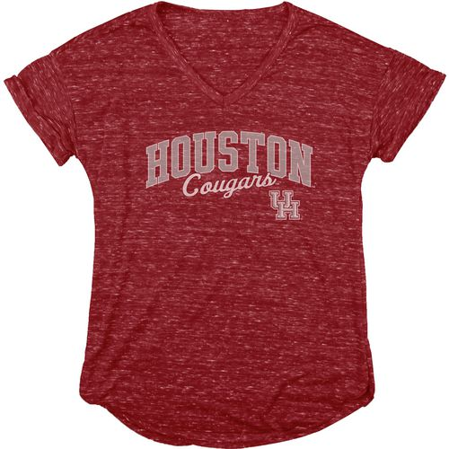 Blue 84 Women's University of Houston Dark Confetti V-neck T-shirt