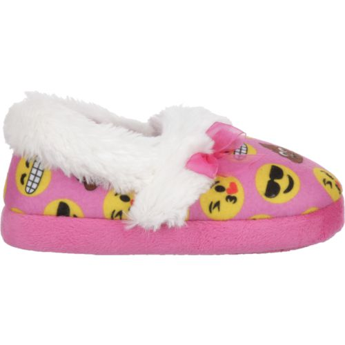 Austin Trading Co. Girls' Emoji A-Line Slippers with Bow