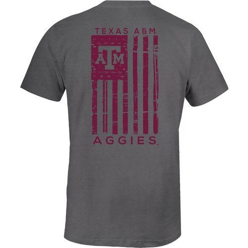 Image One Men's Texas A&M University Comfort Color Distressed Flag T-shirt