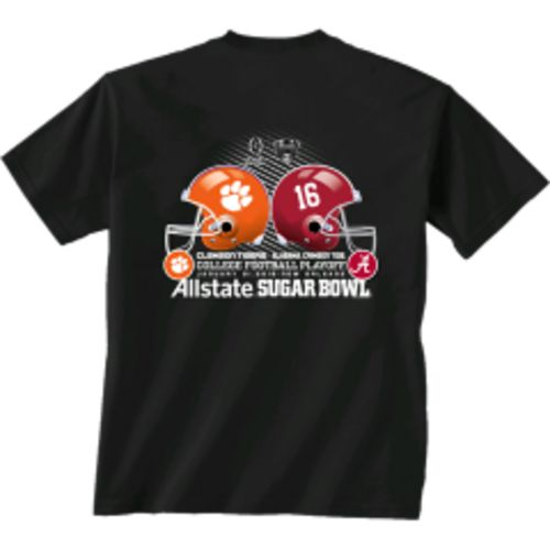 New World Graphics Men's Clemson University vs. University of Alabama Sugar Bowl Helmet T-Shirt
