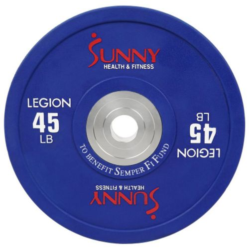 Sunny Health & Fitness Olympic 45 lb Bumper Weight Plates