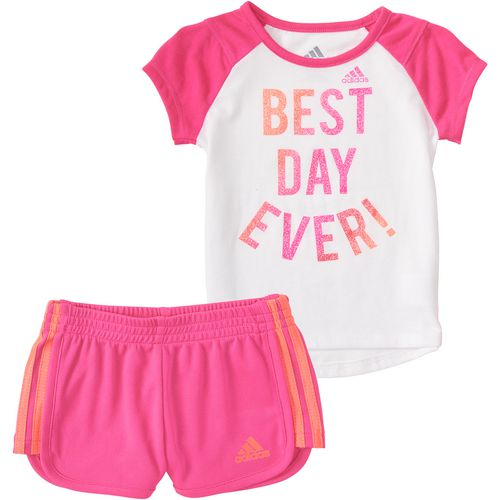 adidas Toddler Girls' Best Day Ever Shorts Set