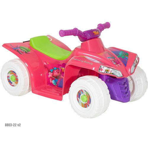 Dynacraft Toddler Girls' Trolls 6 V Little Quad Ride-On Toy