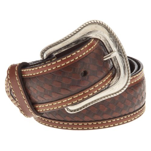 Magellan Outdoors Men's Star Concho Basket Weave Belt