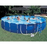 "INTEX® 24' x 52"" Round Metal Frame Pool Set"