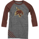 adidas Women's Texas State University Big Stripes 3/4 Raglan T-shirt
