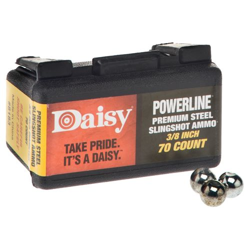"Display product reviews for Daisy® Powerline 3/8"" Steel Slingshot Ammunition"