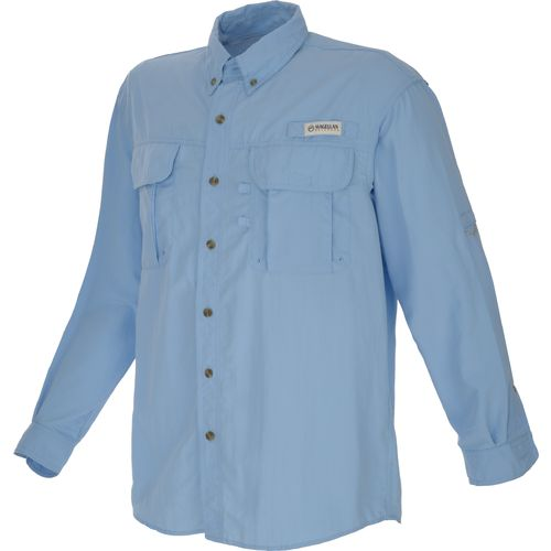 Magellan outdoors men 39 s fishgear laguna madre long sleeve for Mens fishing shirts