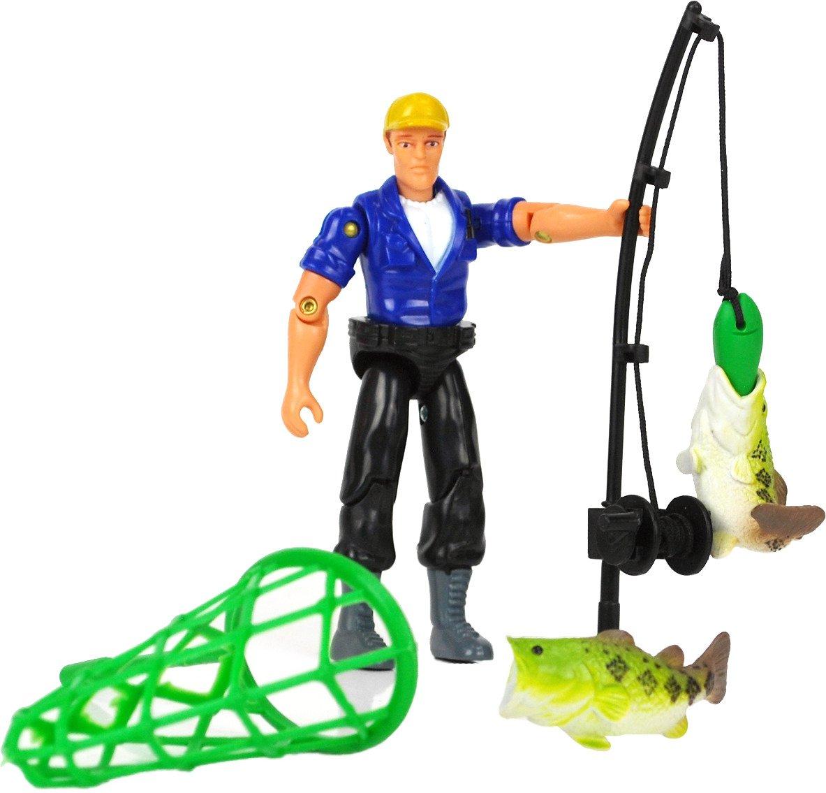 Tree House Kids Imagination Adventure Series Fishing Accessories with Figure Set