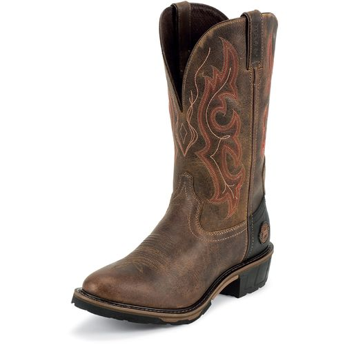 Justin Men's Rugged Utah Waterproof Western Work Boots