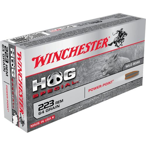 Winchester Power-Point Hog Special .223 Remington 64-Grain Centerfire Rifle Ammunition - view number 1