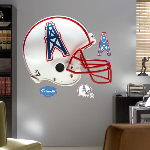 Fathead Houston Oilers Throwback Helmet and Team Decals 4-Pack