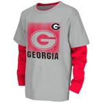 Colosseum Athletics Kids' University of Georgia Flanker Long Sleeve Layer T-shirt