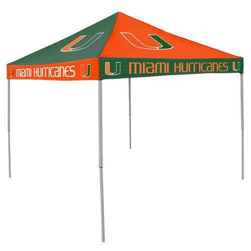 Logo University of Miami Straight-Leg 9 ft x 9 ft Checkerboard Tent