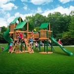 Gorilla Playsets™ Treasure Trove Swing Set with Timber Shield™ and Deluxe Vinyl Canopy - view number 2