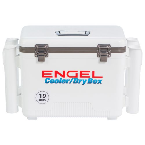 Engel 19 qt. Cooler/Dry Box with Rod Holders - view number 1