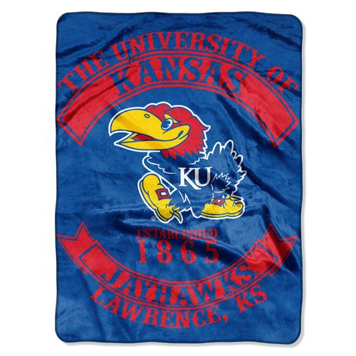 The Northwest Company University of Kansas Rebel Raschel Throw