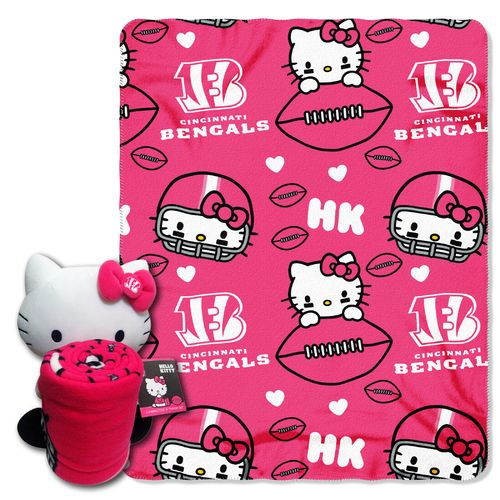 The Northwest Company Cincinnati Bengals Hello Kitty Hugger and Fleece Throw Set