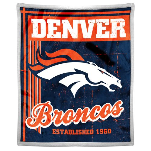 The Northwest Company Denver Broncos Old School Mink with Sherpa Throw
