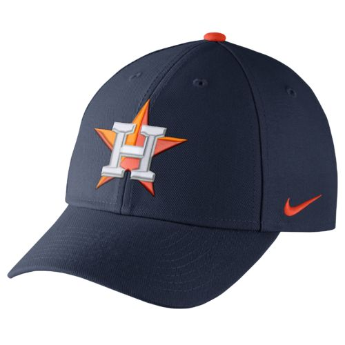 Nike™ Adults' Houston Astros Dri-FIT Classic Swoosh Flex Cap