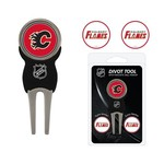 Team Golf Calgary Flames Divot Tool and Ball Marker Set - view number 1