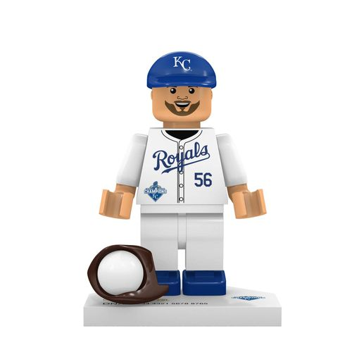 OYO Sports Kansas City Royals Greg Holland #56 World Series Champions Minifigure