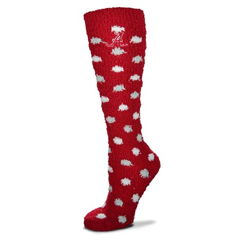 For Bare Feet Women's University of Alabama Originals Sleepsoft Polka-Dot Knee-High Socks