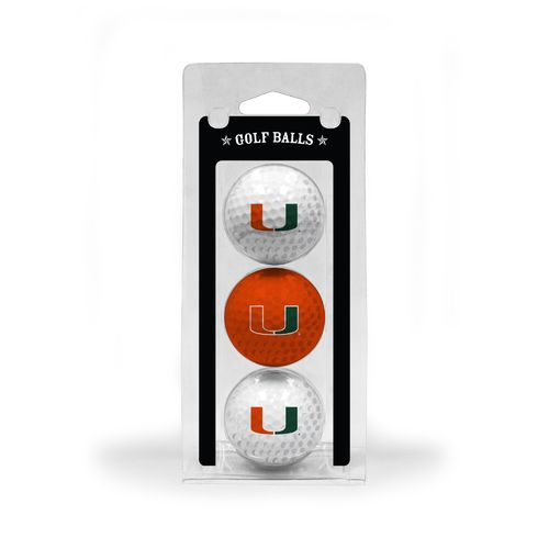 Team Golf University of Miami Golf Balls 3-Pack - view number 1